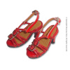 Nouveau Toys 1/6 Shoes Series - 1/6 Scale Red Straps High Heel Shoes