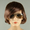 AC Play 1/6 Scale Female Silver Frame Aviation Sunglasses