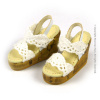 Nouveau Toys 1/6 Shoes Series - White Lace Wedge Sling-Back Shoes