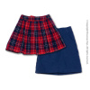 Nouveau Toys Uniform Series - 1/6 Scale Female Navy Color School Skirt & Red Checker Plaid Skirt #2 Combo Set