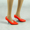 Toys City 1/6 Scale Female Red Glitter Heel Shoes