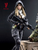 VeryCool 1/6 Scale Female Figure Black Python Stripe Camouflage Villa Sister Box Set
