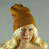 Vogue 1/6 Scale Female Fashion Light Brown Knit Beanie Hat