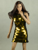 Vogue 1/6 Scale Female Gold Sequence Fashion Dress#1